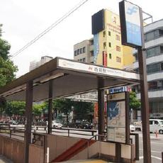 空港線西新駅の外観